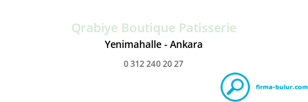 Qrabiye Boutique Patisserie